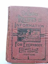 1903 DR. CHASE'S RECIPES OR INFORMATION FOR EVERYBODY ENLARGED & IMPROVED