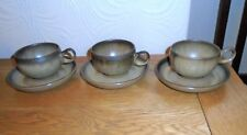 3 X Denby Romany Teacups and Saucers