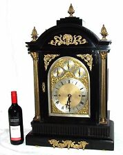 Massive Triple FUSEE Musical Mantel Bracket Clock on 8 Bells & Westminster Chime