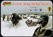 French Army Sledge Train 2 1/72 Soldiers Figures model Kit Strelets #134