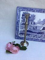 Vintage Modernist Silver Plate Tall Stylish Candlestick