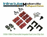 58-59-60-61-62-63-64 Impala Brake Fuel clip set Kit Correct Part Hardware 17pc