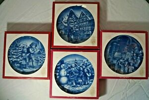 Bareuther Christmas/Weinachten Commemorative Plates-In Original Boxes with Paper