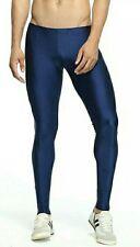 Mens Smart Lycra Running Tight/Meggings Blue (S)