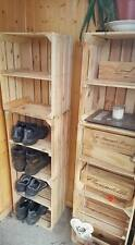 3 x APPLE CRATES with SHELF - IDEAL SHOP / BAR RESTAURANT SHELVING DISPLAY BOXES