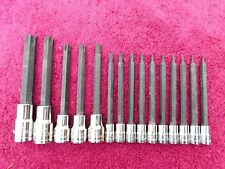 "SNAP-ON *MINT!* 15-PIECE EXTRA-LONG ""TAMPERPROOF"" TORX DRIVER SET!"