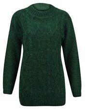 Maglioni da donna verde con girocollo