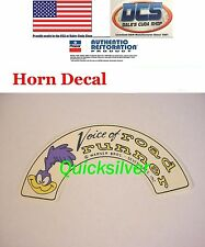 1969 & UP Plymouth Road Runner Horn Voice of Road Runner Decal NEW USA