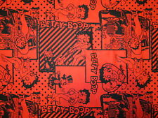 BETTY BOOP RED HEARTS BLACK COTTON FABRIC FQ