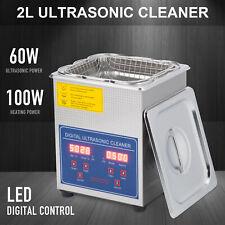 2l Liter Stainless Steel Digital Heated Industrial Ultrasonic Parts Cleaner Tool