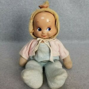 """14"""" vintage Composition & Cloth 3 Face Baby Doll TRUDY """"TLC"""""""
