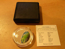 New listing 2007 Mongolia 500 Togrog Color Cosmos Space Coin, Sputnik-1, 500 Pcs Proof