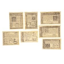 Colonial British Revolutionary Set Paper Money Six Pence Five Shillings