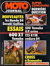 MOTO JOURNAL  641 Essai Test YAMAHA XT 600 OW 70 KTM 125 enduro du TOUQUET 1984