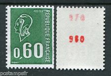 FRANCE 1974 timbre 1815b, TROPICALE, ROULETTE DOUBLE N° ROUGE, BEQUET, neuf**