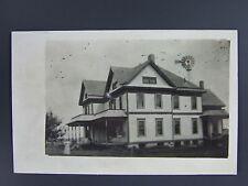 New London Wisconsin WI Farm House Real Photo Postcard 1908 RPPC Antique