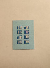 """1/50 scale """"TIR"""" Marker Boards for Lorry/Truck Trailers etc, (set of 8)"""