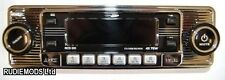 Classic Car CD Player Chrome Front with AM/FM Radio USB SD Aux In Retro Vintage