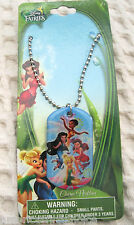 Disney Kids Tinkle Bell and Friends Dog Tag Necklace Birthday PARTY FAVORS-NEW!