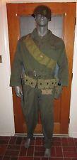 WW2 Airborne Paratrooper tanker air corps M-1938 HBT Suit big tall XX L fury B1
