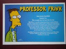 POSTCARD THE SIMPSONS - PROFESSOR FRINK DETAILS