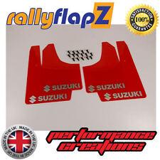 rallyflapZ SUZUKI SWIFT ZC72S (2010+)Mud Flaps Mudflaps Red Logo Silver(3mm PVC)