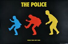 THE POLICE WORLD TOUR 2007-2008 OFFICIAL POSTER MEGA RARE 1ST EDITION  WOW