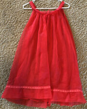Beautiful Vintage Red BABYDOLL Negligee Size S / M Sexy Red Nightgown