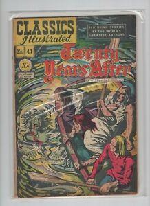 "Classics Illustrated #41. ""Twenty Years After"", HRN 41, Original, Very Fine!"