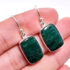 925 Sterling Silver Jewelry Natural Green Aventurine Gemstone Dangle Earrings