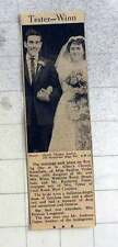 1959 Miss Pauline Winn Marries Mr Raymond Tester, West Croydon