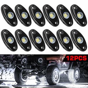 White 12 Pods CREE LED Rock Underbody Lights for JEEP Offroad Truck ATV UTV Boat
