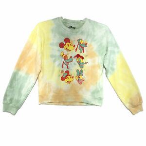 Disney NWOT Tie Dyed Sweatshirt Juniors Sz M (7-9) Mickey, Minnie, Donald, Goofy