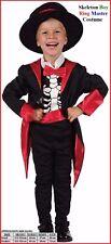 SKELETON RING MASTER COSTUME Halloween Circus Fancy Dress Party Boy size 2-4 yo