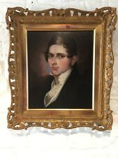 ANTIQUE EARY 19TH CENTURY OIL PAINTING - PORTRAIT OF A YOUNG MAN