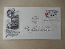 """Phyllis Diller Autographed 3 1/2"""" X 6 1/2"""" FDOI Envelope"""
