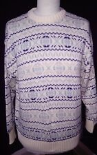 Xmas vtge rare sleightex fair isle/nordic sweater jumper to  fit a 12/14 uk