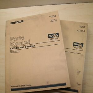 Caterpillar Lexion 450 Combine Parts Manual Book farm catalog list spare CAT 8YW