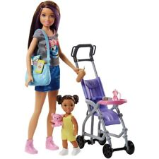 Barbie Skippers Babysitter Stroller Playset with Doll BNIB SHIPS FAST