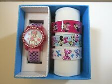 Disney Minnie Mouse Girl's Digital Watch With 4 Interchangeable Straps MN40019