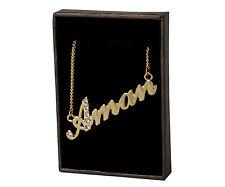 "Namen Halskette ""AMA"" - 18ct vergoldet-made with Swarovski Elements-elegante"