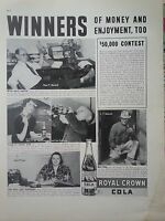 1938 Royal Crown RC Cola Soda $50,000 Contest Winners Original Ad