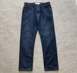 "Next jeans 32S straight short dark indigo blue denim trousers 32 S 29"" leg"
