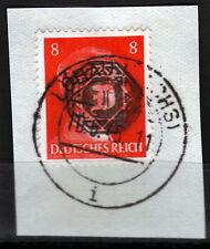 Löbau 8 Briefstück, 8 Pf. Hitler mit Aufdruck