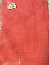 "AIDA 11c 1 pc RED 12"" x 18"" unbranded 100% quality cotton cross stitch fabric"
