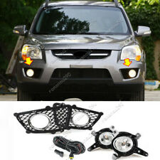 For Kia 2009 2010 Sportage Halogen Front Fog Lamp w/ Bulb Switch Cable Bezel Kit