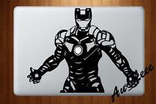 Macbook Air Pro Vinyl Skin Sticker Decal Stark Iron Robot Super Hero Black M710