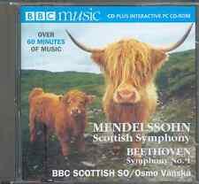 MENDELSSOHN: SCOTTISH + BEETHOVEN: SYMPHONY 1/BBC SCOTTISH SYM ORCH/ OSMO VÄNSKÄ