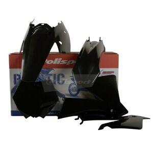 KTM SX 2003-2004 125 200 250 Polisport Plastics Kit - Black - 90194 Motocross
