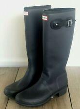 Hunter Womens Original Matte Gray Rain Boots Black Size 7 Brand New